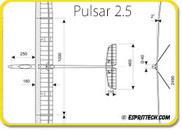V-tail Conversion for Pulsar Pro 2E/S, 2.5E/S