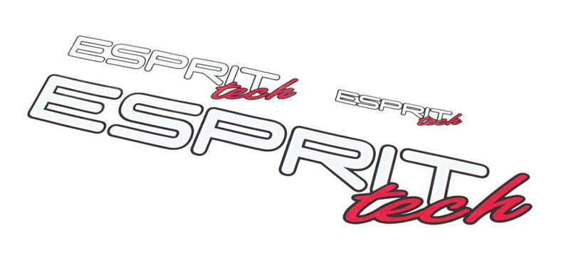 Decal Sheet Esprit Tech White/Red 3/6/12'' (75/150/305mm)