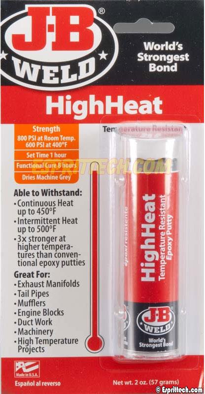 J-B Weld Epoxy Putty Temperature Resistant HighHeat