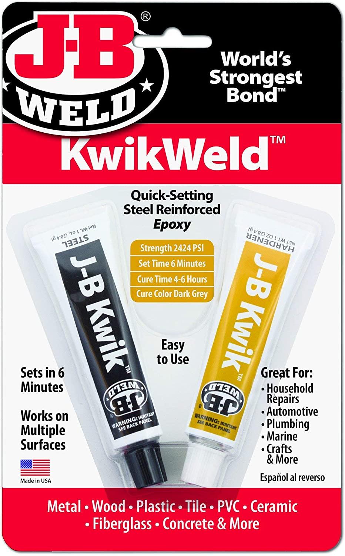 J B Weld Epoxy Glue Steel Reinforced 6 Minutes Kwikweld