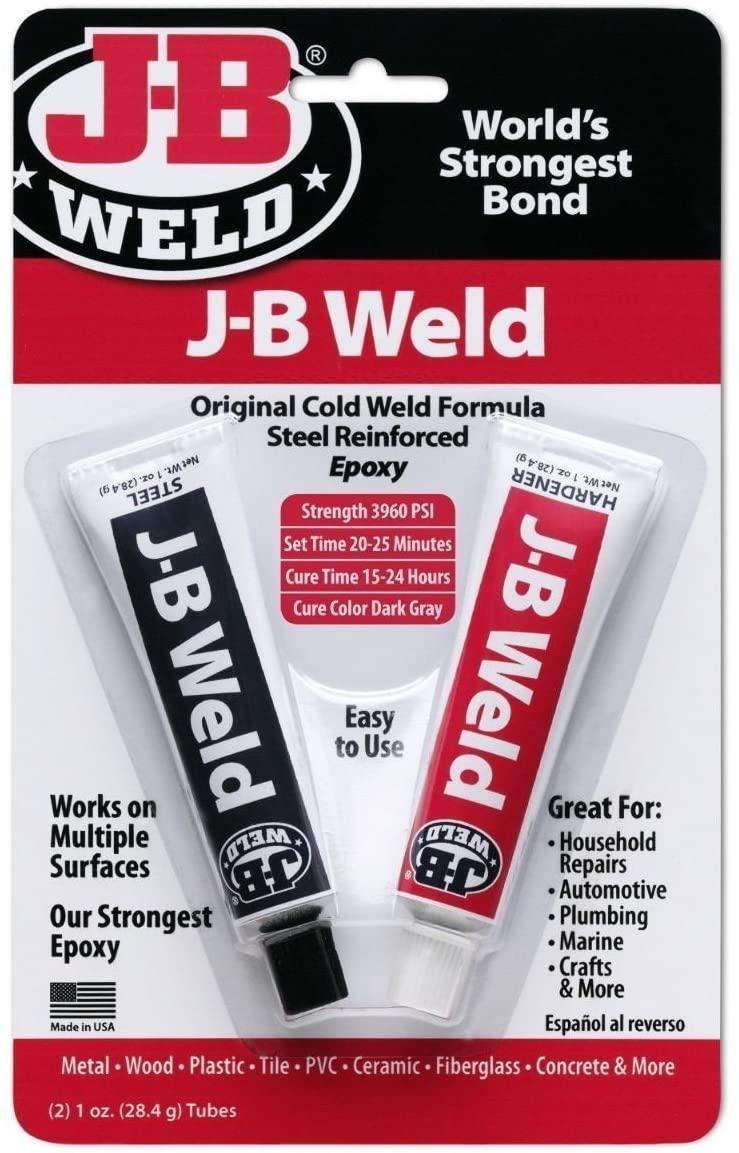 J B Weld Epoxy Glue Steel Reinforced