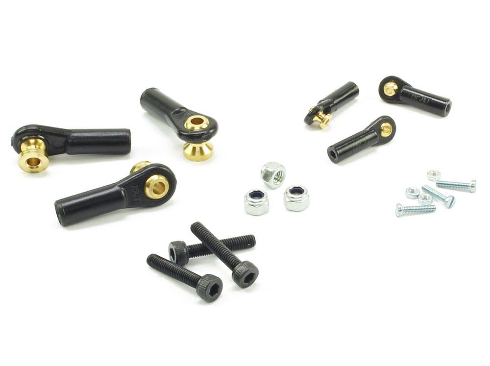 Ball Links MP Jet 4mm/M2 Rod w/M1 6 Screws (6) 5mm Standoff