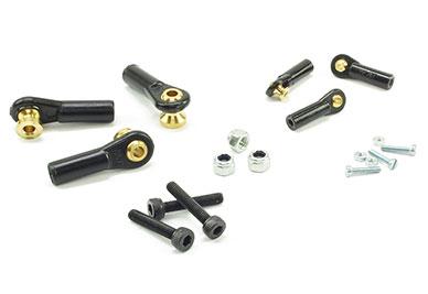 Ball Links MP Jet 4mm/M2 Rod w/M1.6 Screws (6) 5mm Standoff