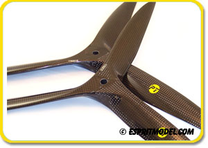 PT Propellers 3-Blade Glow/Gas Carbon Fiber