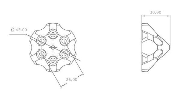3d aluminum spinner s  da50  dl50  evo 54