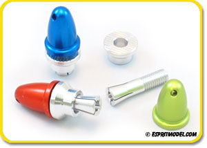 Bullet Prop Shaft Adapters (Red/Blue/Green)