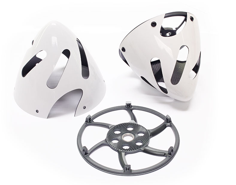 Falcon Carbon Fiber E-Spinners White