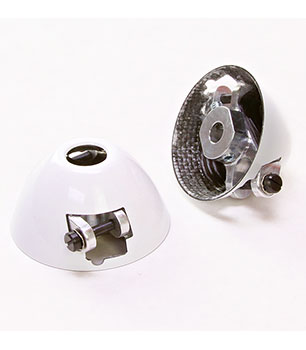 RFM Scale Carbon Fiber Offset Turbo White Spinners for Folding Propellers (FES Drives)