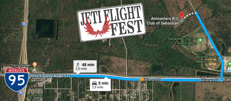 Jeti Flight Fest Map