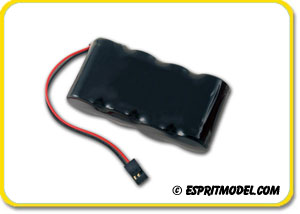 Rx Battery Pack Flat 1700mAh 4.8V NiMH