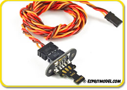 Emcotec EWC3 Servo Harness Set 400mm