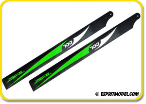 Zeal Carbon Fiber Main Blades (Green)