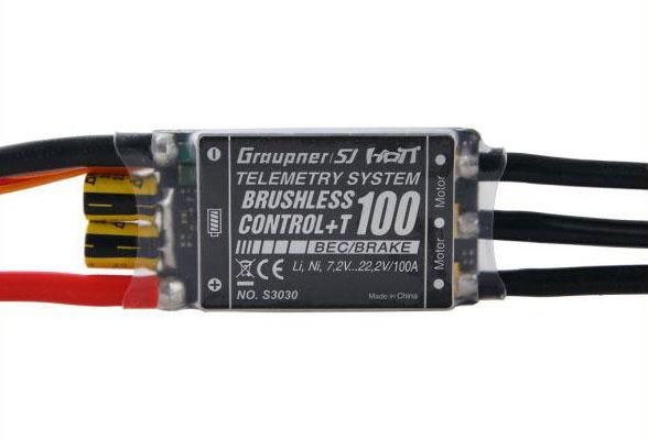 Graupner HoTT +T 100 BEC Brushless ESC w/Telemetry