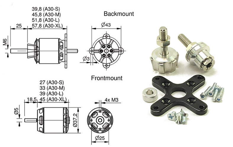 Hacker A30 S Series Motors