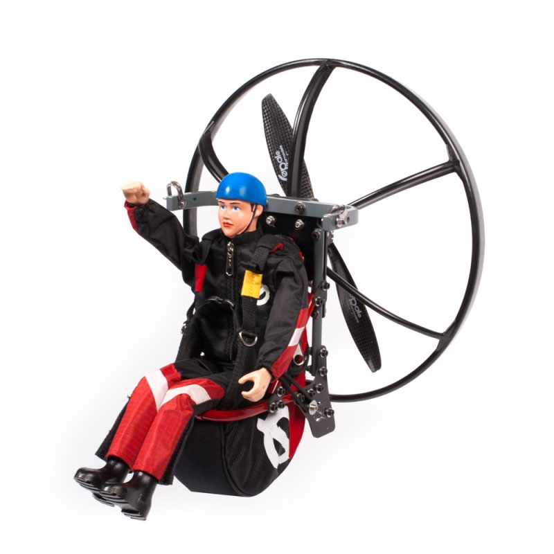 Paraglider Pilot Ben with Harness ARTF Red