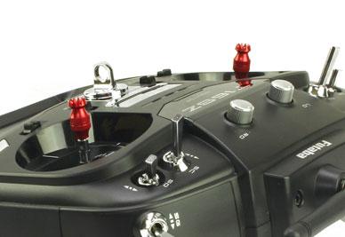 Transmitter Stick Ends V2 16mm Jr Spektrum M4 Red
