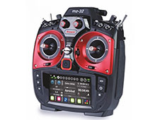 Graupner HoTT MZ-32 Pro Red 2.4GHz, Rx GR-24 Radio w/Telemetry