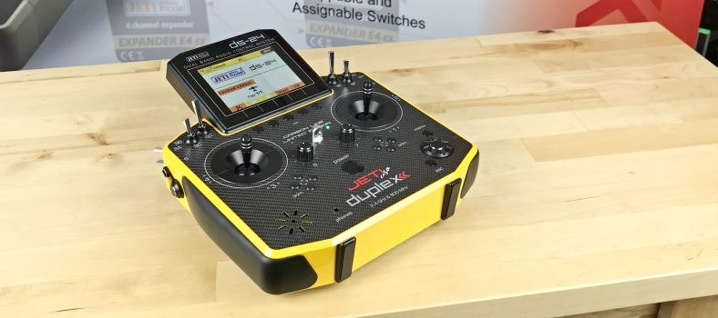 Jeti Duplex DS-24 Carbon Sunburst Yellow 2.4GHz/900MHz w/Telemetry Transmitter Jeti USA Limited Edition Radio (Due Mid July)