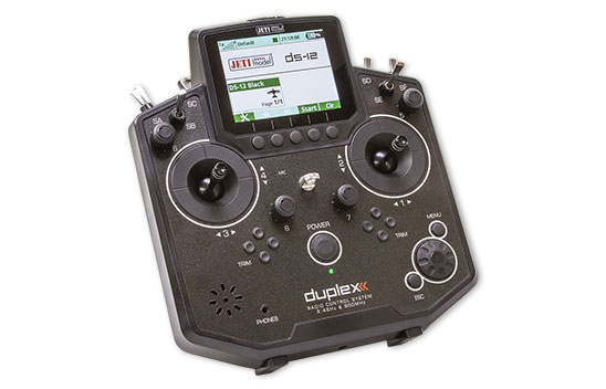 Jeti Duplex DS-12 Black 2.4GHz/900MHz w/Telemetry Transmitter Only Radio
