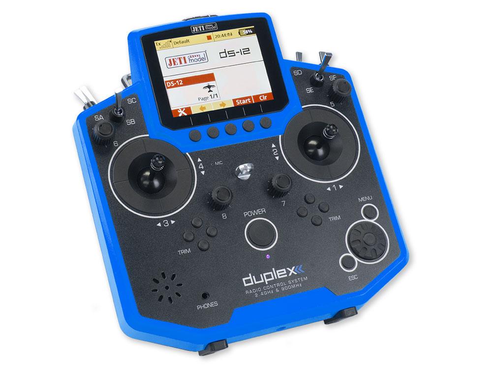 Jeti Duplex DS 12 Blue 24GHz 900MHz W Telemetry Transmitter Only Radio