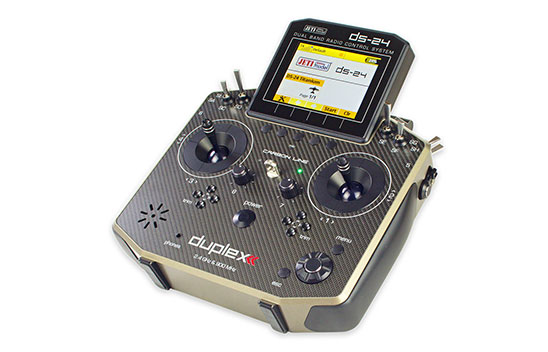 Jeti Duplex DS-24 Carbon Titanium 2.4GHz/900MHz w/Telemetry Transmitter Only Radio