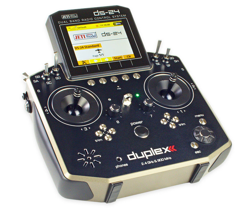 Jeti Duplex DC-24 2.4GHz/900MHz w/Telemetry Transmitter Only Radio
