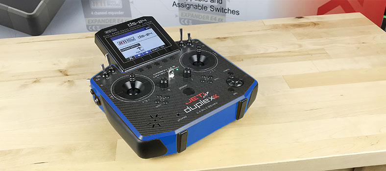 Jeti Duplex DS-24 Carbon Capri Blue 2.4GHz/900MHz w/Telemetry Transmitter Jeti USA Limited Edition Radio