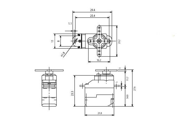 Futaba S3114 Sub-Micro High Torque Servo (11mm)