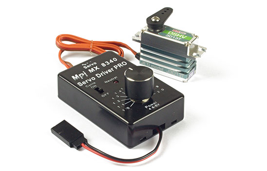 Servo Tester, Driver & Cycler w/Centering LED MX 8340