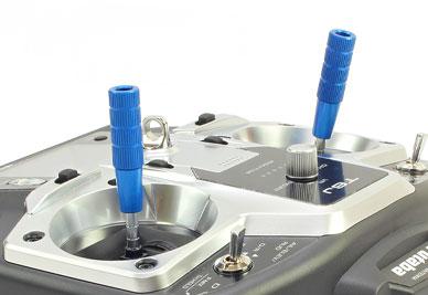 Transmitter Stick Ends V3 40mm Dx6i Dx8 Hitec Futaba M3 Blue