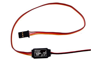 Graupner HoTT Telemetry Sensor Voltage 5-80V VM-80