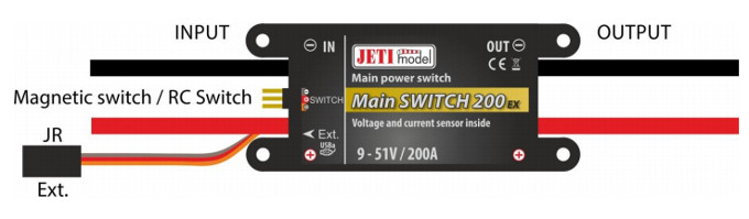 Jeti Power Main Switch 200A with R3/RSW Wireless Switch