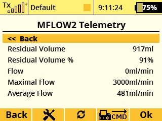 Jeti Telemetry Sensor Fuel Flow MFlow2 Turbine T3000 EX