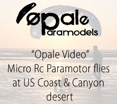 Micro Rc Paramotor flies at US Coast & Canyon desert