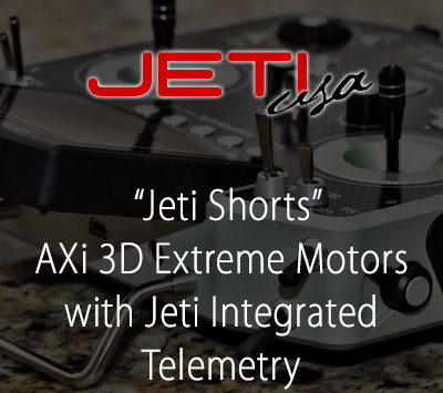 AXi 3D Extreme Motors with Jeti Integrated Telemetry