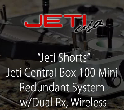 Jeti Central Box 100 Mini Redundant System w/Dual Rx, Batteries & Wireless Switch