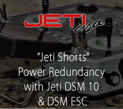 Power Redundancy with Jeti DSM 10 & DSM ESC