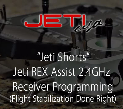 Jeti REX Assist 2.4GHz Receiver Programming (Flight Stabilization Done Right)
