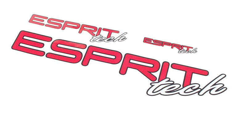 Decal Sheet Esprit Tech Red/White 3/6/12'' (75/150/305mm)