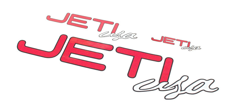 Decal Sheet Jeti USA Red/White 3/6/12'' (75/150/305mm)