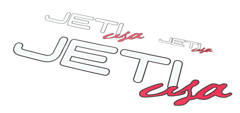 Decal Sheet Jeti USA White/Red 3/6/12'' (75/150/305mm)