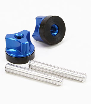 Wing Bolts/Wing Nuts Aluminum M6 Blue (2)