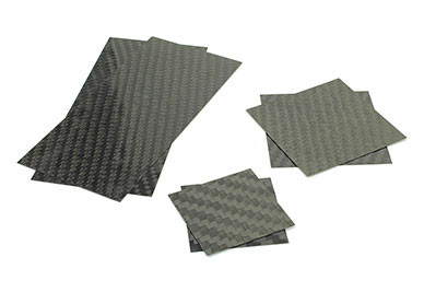 Servo Fairings/Covers Carbon Fiber (70x70mm) Flat