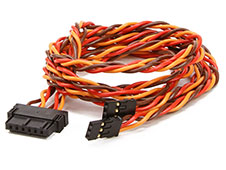 Emcotec EWC6 Servo Harness Set Dual 700mm