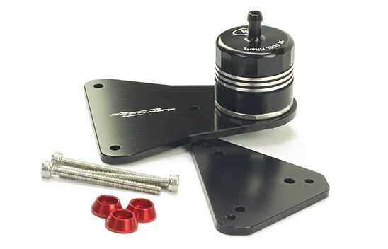 Fuel Filter Large SE-L w/Installation Bracket (Black)