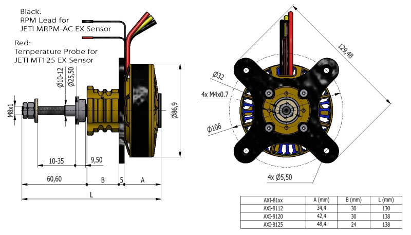 AXi 8112 3D Extreme Outrunner Brushless Motors w/Telemetry