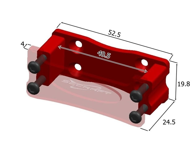 Servo Mount Aluminum Side V2