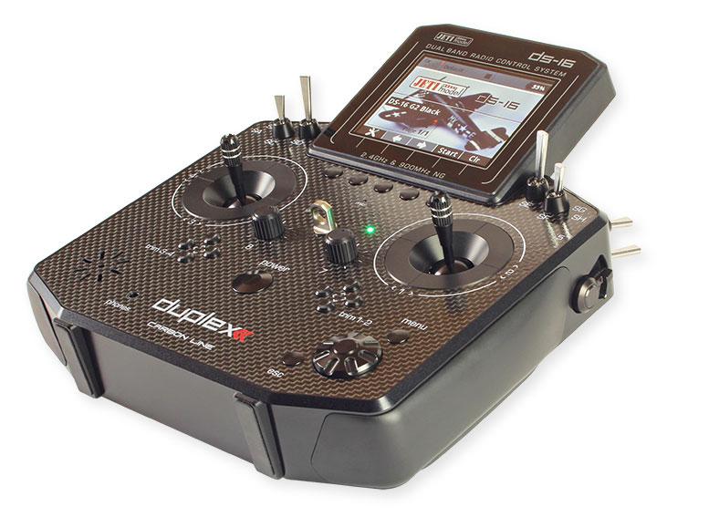 Jeti Duplex DS-16 G2 Carbon Black Diamond 2.4GHz/900MHz w/Telemetry Transmitter Only Radio