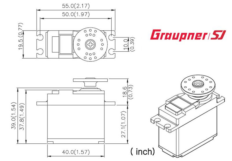 Graupner DES 708 BBMG Speed Standard Digital Servo