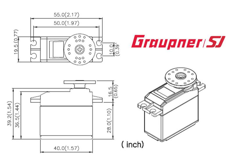 Graupner DES 807 BBMG Speed Coreless Standard Digital Servo